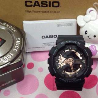 Casio G shock Black with Rose Gold OEM from Japan
