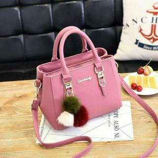 Pink Korean fashion bags