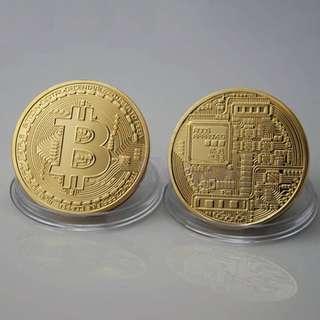 BTC Bitcoin Coin Collectible Physical Gift Art Collection