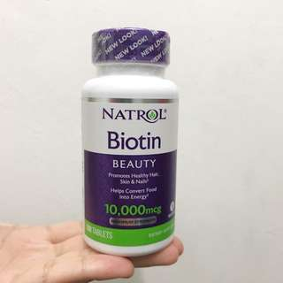 Ready stock biotin beauty 10,000 mcg 100 tablets