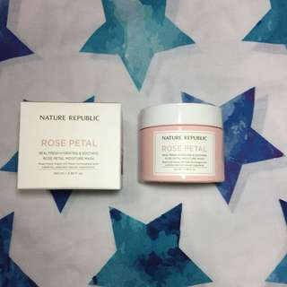 rose petal moisture mask