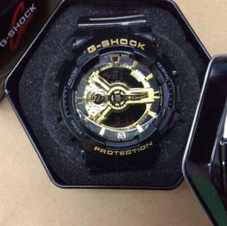 Casio OEM watch gshock black with gold