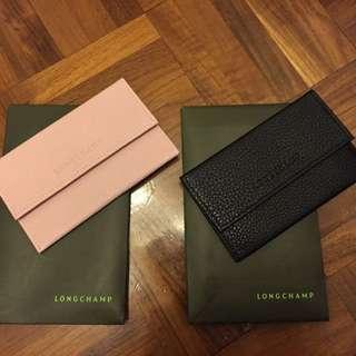 LONGCHAMP Leather Card Holder
