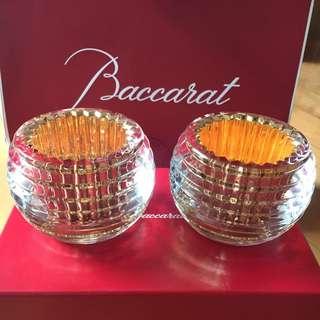 Baccarat 水晶金色爉台💎一對✨🕯