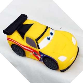 "Disney Cars Jeff Gorvette 4 1/2"""