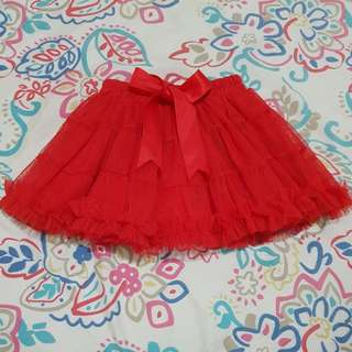 RED LACE TUTU SKIRT