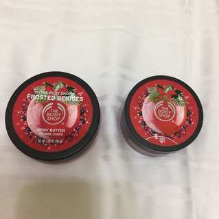 The Body Shop Body Butter and Body Scrub