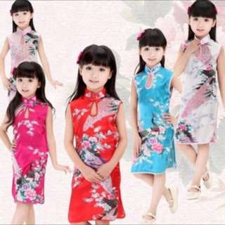 Brand New Girls Kids CNY Cheongsam dress