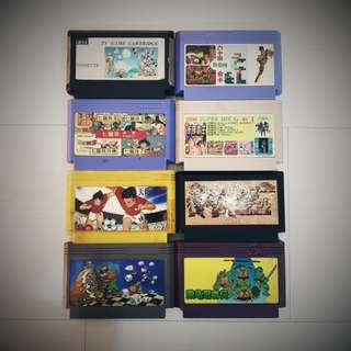Set of 8 retro Super Famicom Cartridges