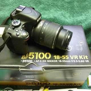 Nikon D5100 with vr kit emergency sale