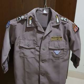 #ImlekHoki Set Baju Polisi Anak Usia 4 tahun