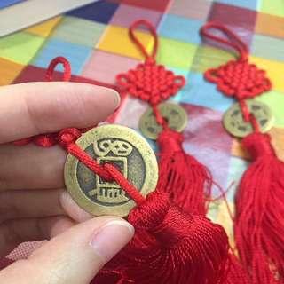 [中國手工藝]銅錢掛飾x3(每個連袋) 適合文化交流、送禮