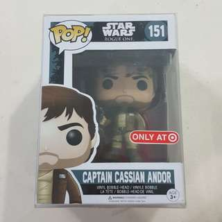 Legit Brand New With Box Funko Pop Star Wars Rogue One Captain Cassian Andor Brown Shirt Target Exclusive