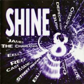 arthcd SHINE 8 2CD 40 Tracks (OASIS, SUEDE, BLUR, MANIC STREET PREACHERS, CAST, REEF, EELS, THE CHARLATANS, JAMES, PLACEBO, DEPECHE MODE, BUSH, MANSUN, KULA SHAKER, MONACO, GENE, PULP, SHED SEVEN, SLEEPER, TRAVIS, SUPERGRASS, DODGY, LIGHTNING SEEDS etc