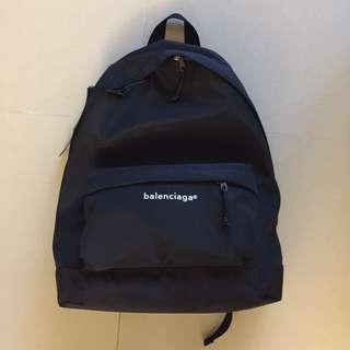 Balenciaga black backpack