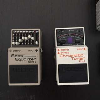 Guitar and Bass effect pedals