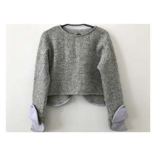 Grey&Purple Sweater
