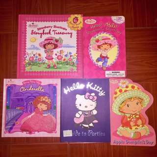 Strawberry shortcake and Hello Kitty books