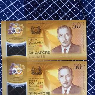 SG 50 limited Note $60 per note.