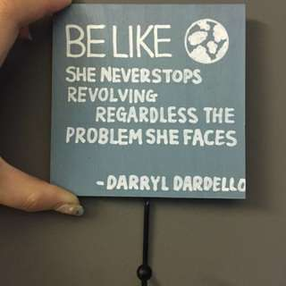 Quotes wooden board self made D.I.Y