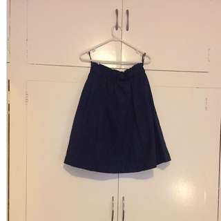 Suedette Navy high waisted skirt