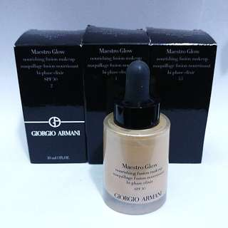 全新Armani Mastro Glow foundation