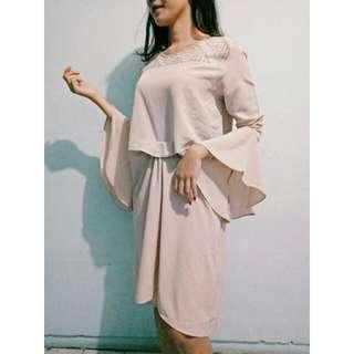 Batik dress cream