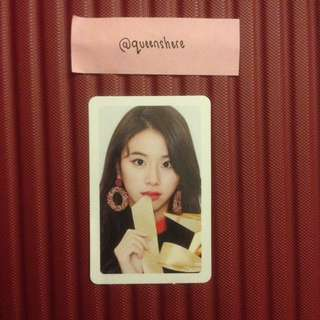 TWICE CHAEYOUNG MERRY & HAPPY  OFFICIAL PHOTOCARD / PINK VER