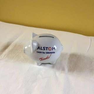 Alstom Porcelain Coin Bank