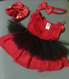 Infant Party Dress Complete Set