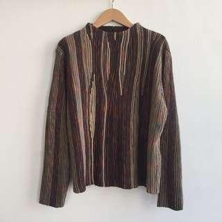 日本設計師品牌 羊毛混紡特殊彩色針織上衣