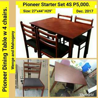 Wooden Dining Set 4seater.  and 6seaters