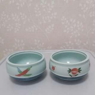 日本清秀牌子收納陶瓷裝飾/花盆1套