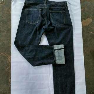 uniqlo jeans selvedge size:32