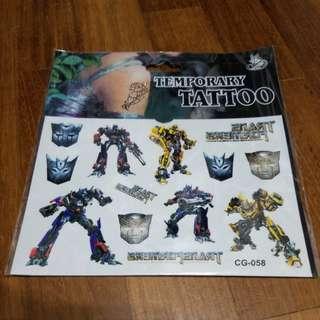 Children Temporary Tattoo (Transformer)