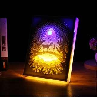 DIY Lighted Paper Art Frame - Elk Acrylic Frame
