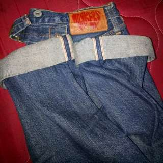 Celana denim selvedge workers