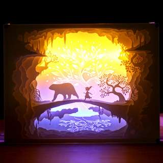 DIY Lighted Paper Art Frame - Paw Prints Acrylic Frame