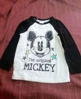 H&M mickey mouse ragla for 12-18 months