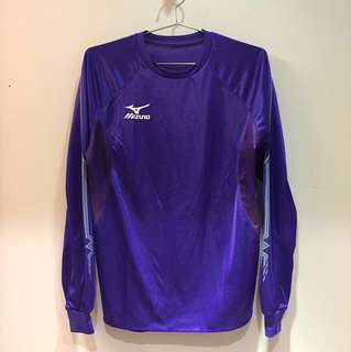 100%全新 NEW MIZUNO美津龍圓領特別紫色拼漸變淺紫內側長袖跑步運動上衣Purple Running Sport training Top(購自日本)