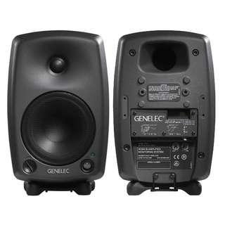 Genelec 8030A Active Studio Monitors PAIR - Dark Grey