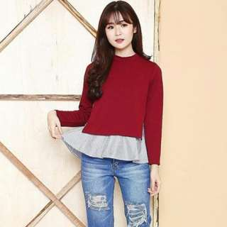 Wn. Lala Top Red, Black