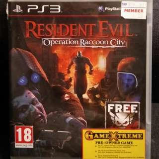 PS3 Resident Evil Operation Racoon City