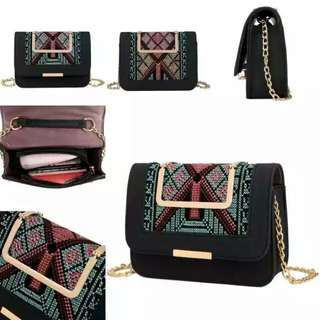 Tas fashion import from batam 1510 available black and pink