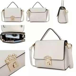 Tas fashion handbag inport from batam 1229 available black and white