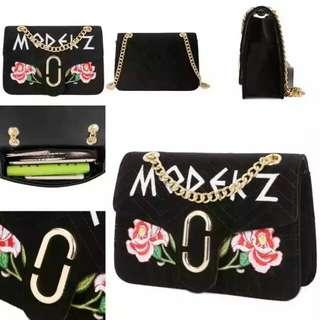 Tas fashion handbag import from batam 1513 black