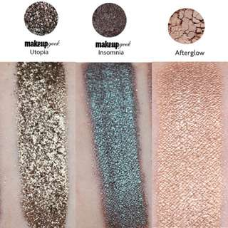 Makeup Geek Eyeshadow Pigments Afterglow, Insomnia, Utopia