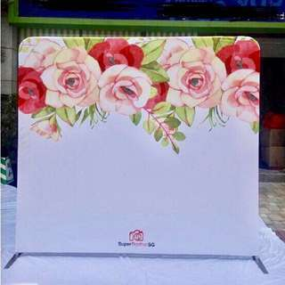 {RENT} Floral Tension Fabric Backdrop