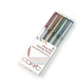 Copic Multiliner Pen 0.3 mm 4 Color Set
