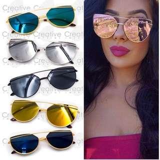 Rainbow Mirror Shades Sunglasses